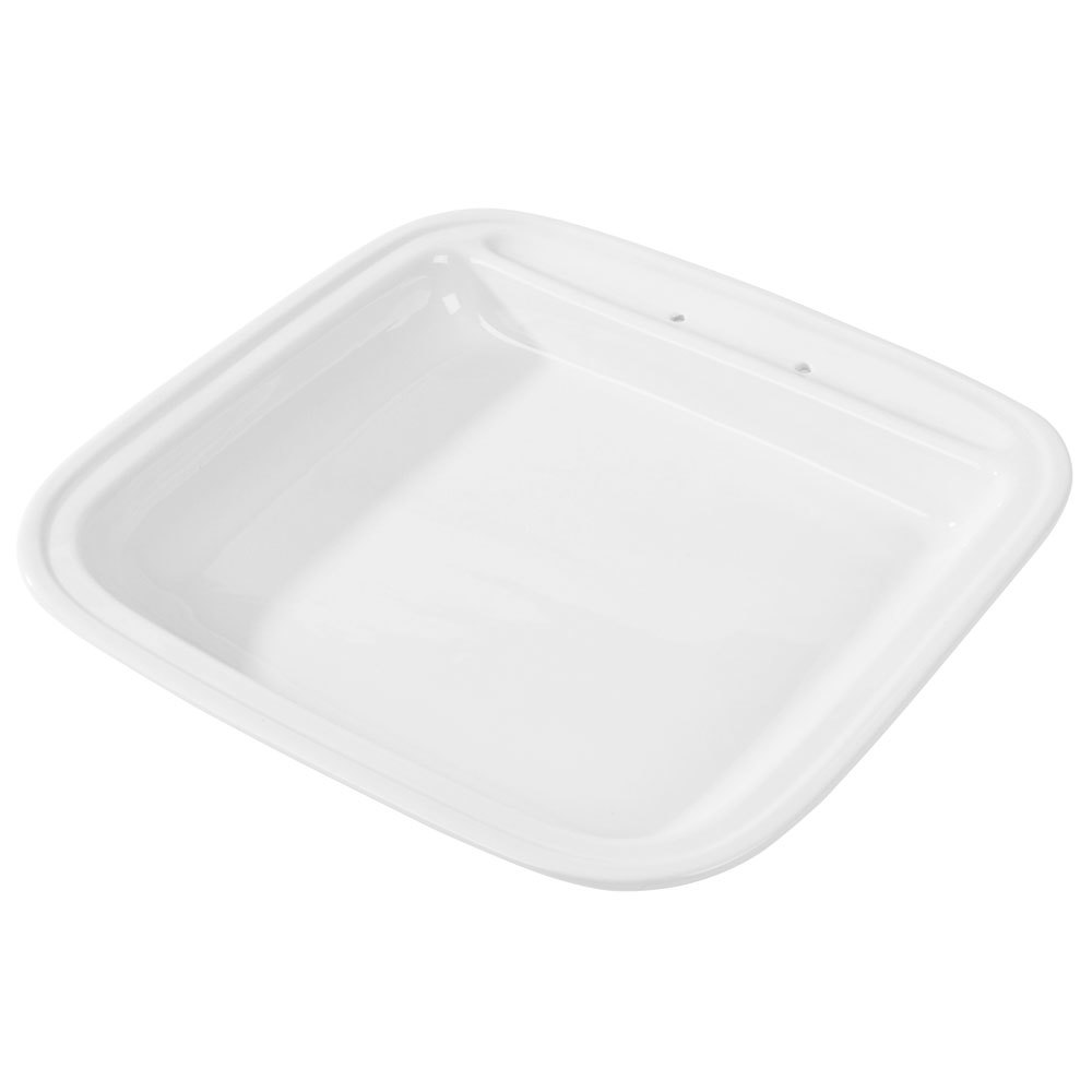 Vollrath 46136 6 Qt. Replacement Porcelain Food Pan for Square Intrigue Induction Chafers