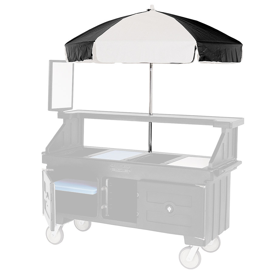 Cambro 60105 Black and White Replacement Umbrella for CVC72 and CVC724 Camcruisers at Sears.com