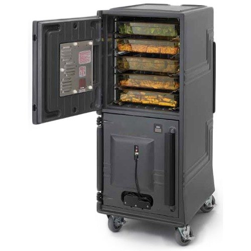 Cambro CMBPTH615 Charcoal Gray Electric Combo Cart Plus with Standard Casters, Top Compartment Heated - 110V at Sears.com