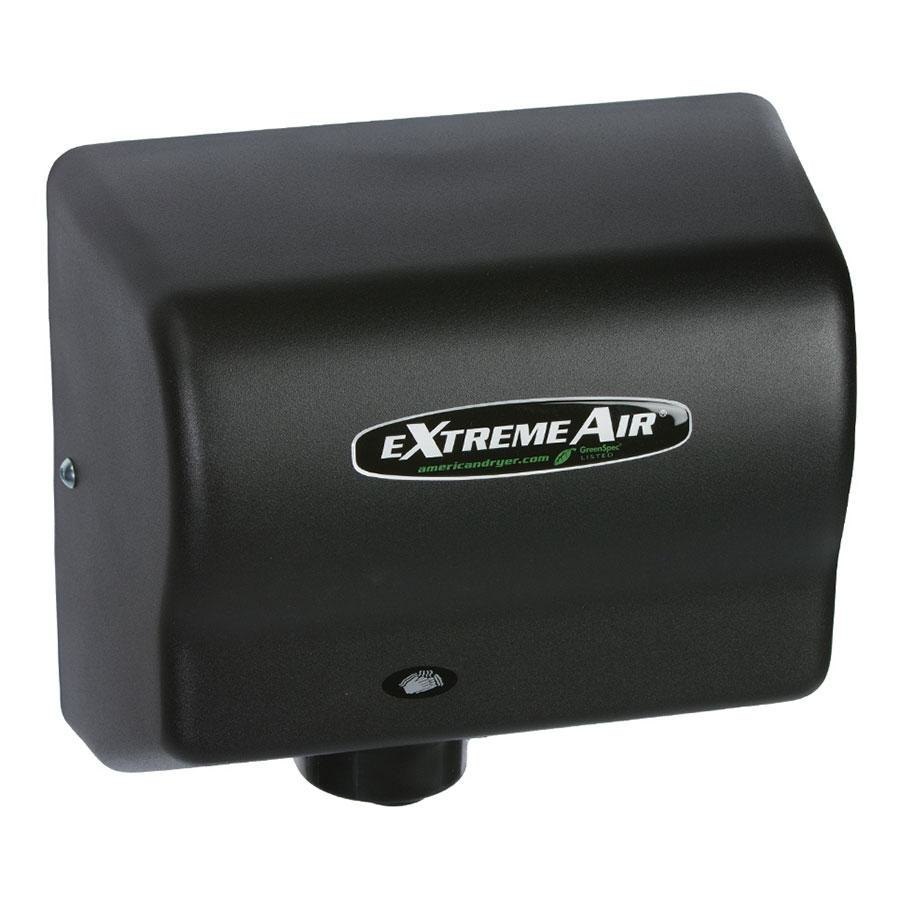 American Dryer GXT9-BG ExtremeAir Automatic Hand Dryer with Steel Black Cover - 100-240V, 1500W