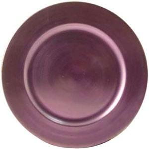 "Tabletop Classics TRPL-6651 13"" Purple Round Acrylic Charger Plate"