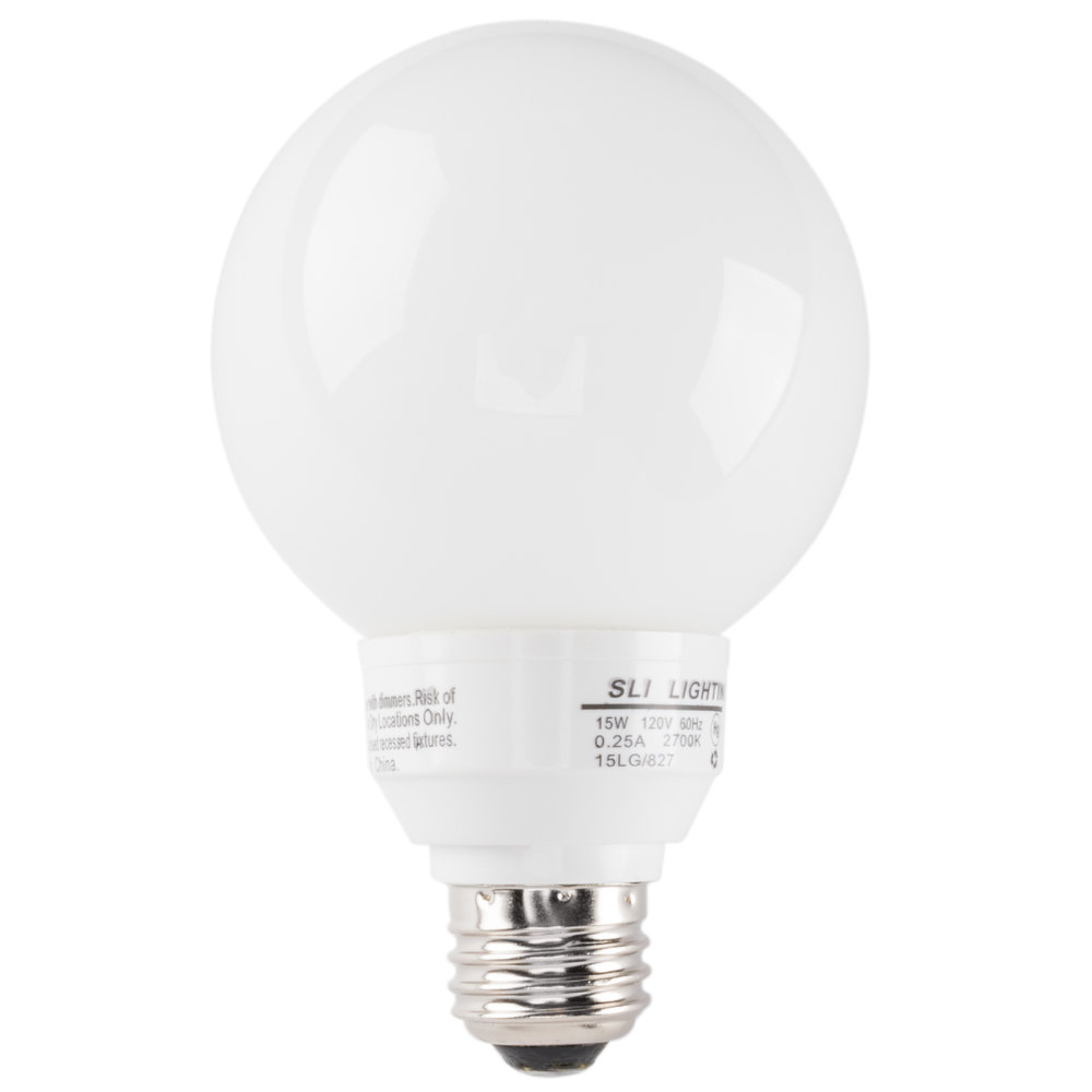 Mini Lynx 14 Watt 60 Watt Equivalent Compact Fluorescent Globe Light Bulb 120v G25 Cfl