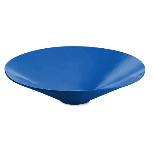 Tablecraft CW13090BL 4.5 Qt. Blue Cast Aluminum Round Bowl with Rings