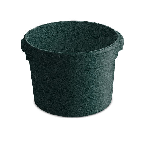 Tablecraft CW1310HGNS 11 Qt. Hunter Green with White Speckle Cast Aluminum Bain Marie Soup Bowl