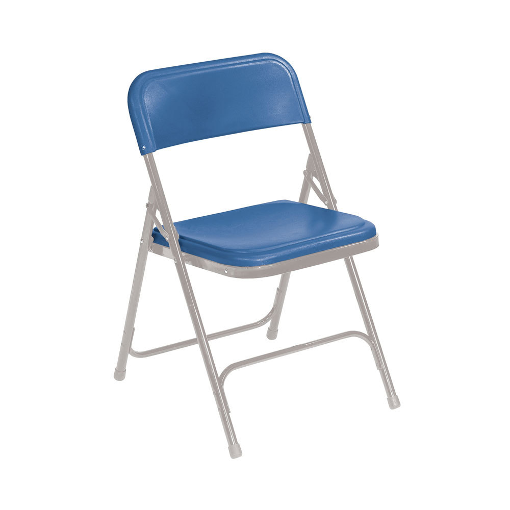 National Public Seating 805 Gray Metal Folding Chair with