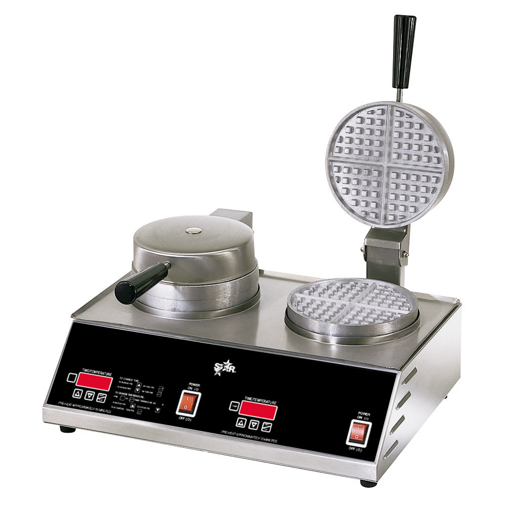 """Star 230 Volts (International) Star SWB7R2E Double Round Waffle Iron 7"""" at Sears.com"""