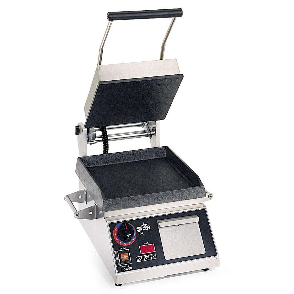 "Star 230 Volts (International) Star Pro Max GR10TB 10"" x 10"" Smooth Aluminum Top & Bottom Panini Sandwich Grill with Electronic Timer at Sears.com"
