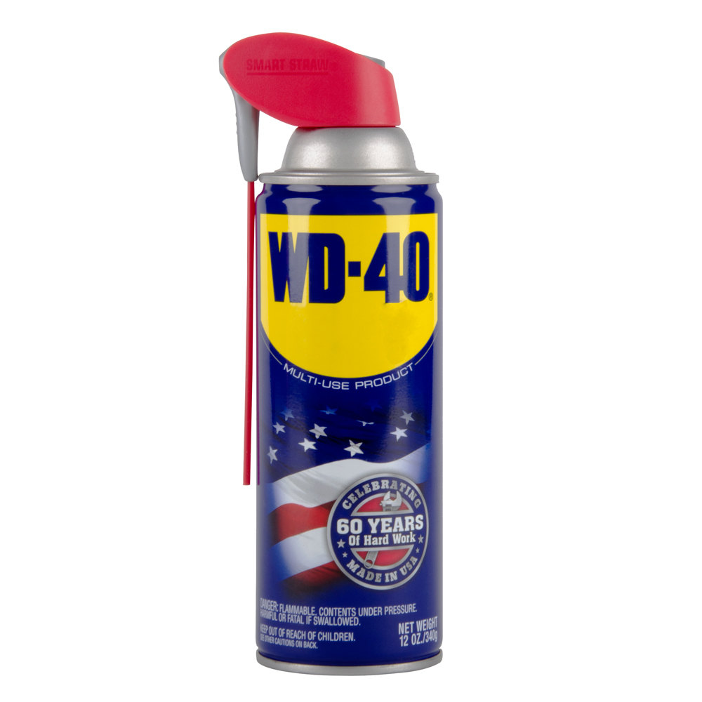 wd 40 12 oz spray lubricant with smart straw. Black Bedroom Furniture Sets. Home Design Ideas