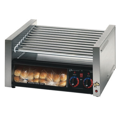 Star 230 Volts (International) Star Grill Max 30CBBC 30 Hot Dog Roller Grill with Chrome Plated Rollers and Bun Drawer with Clear Doo at Sears.com