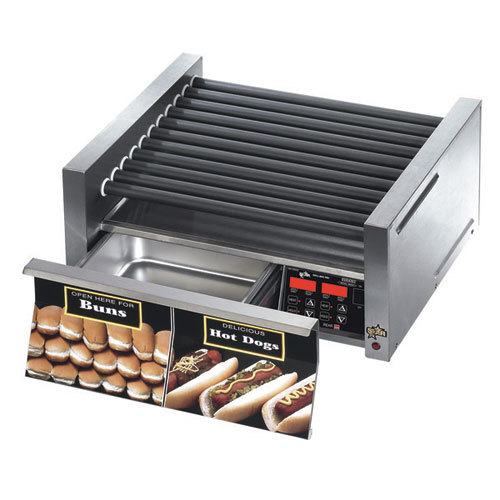 Star 230 Volts (International) Star Grill Max 30SCBD 30 Hot Dog Roller Grill with Duratec Non-Stick Rollers and Bun Drawer at Sears.com