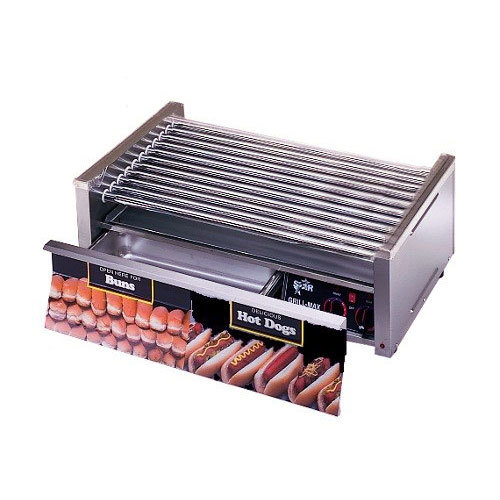 Star 230 Volts (International) Star Grill Max 30CBD 30 Hot Dog Roller Grill with Chrome Plated Rollers and Bun Drawer at Sears.com