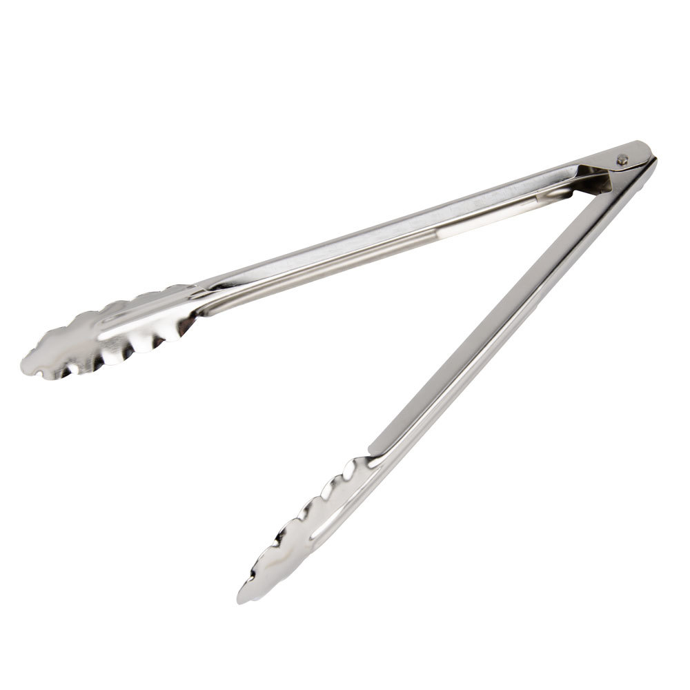 12 stainless steel utility tongs