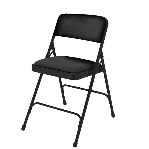 Black Metal Folding Chairs from Sears