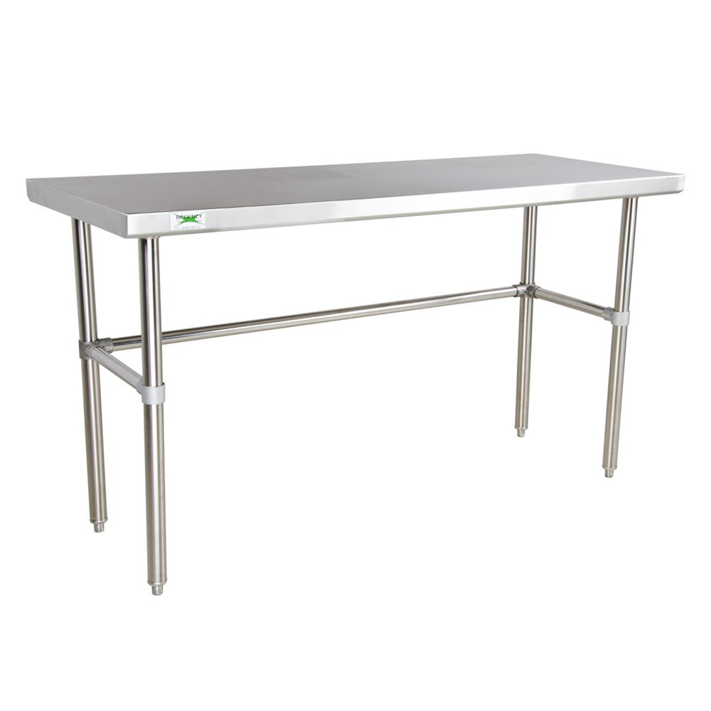 Regency 16 Gauge 24 inch x 60 inch Stainless Steel Commercial Open Base Work Table