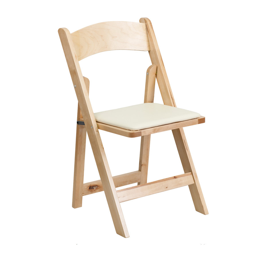Wood Folding Chair With Padded Seat from Sears