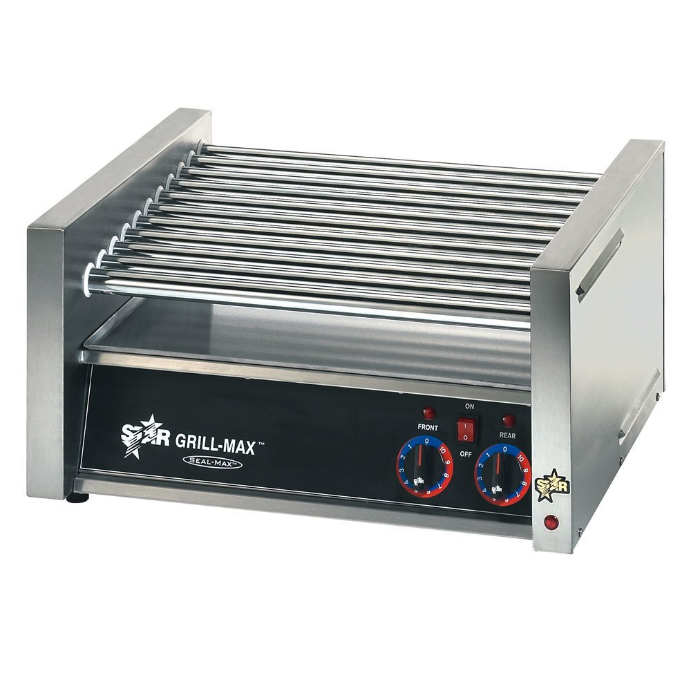 Star 230 Volts (International) Star 30C Grill-Max 30 Hot Dog Roller Grill with Chrome Rollers ? Slanted at Sears.com