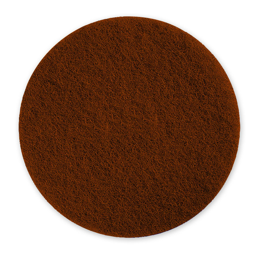 "Scrubble by ACS 71-6 1/2 6 1/2"" Brown Stripping Pad - Type 71 - 10/Case"