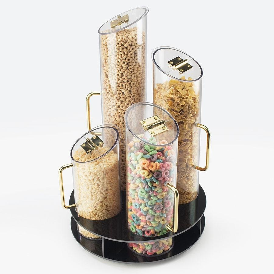 Cal Mil 723 4 Bin Turntable Cereal Dispenser with Black ABS Base at Sears.com