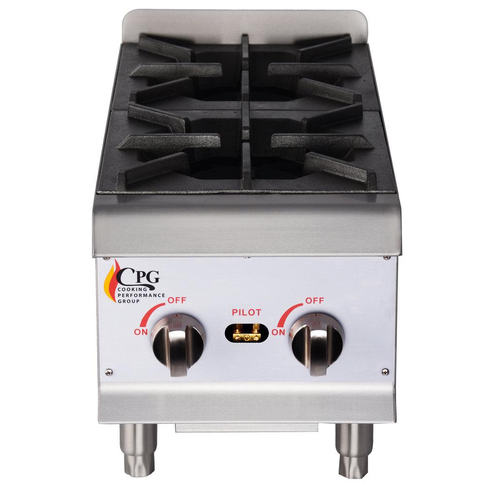 Countertop Gas Burner : ... Performance Group HP212 2 Burner Gas Countertop Hot Plate - 44,000 BTU