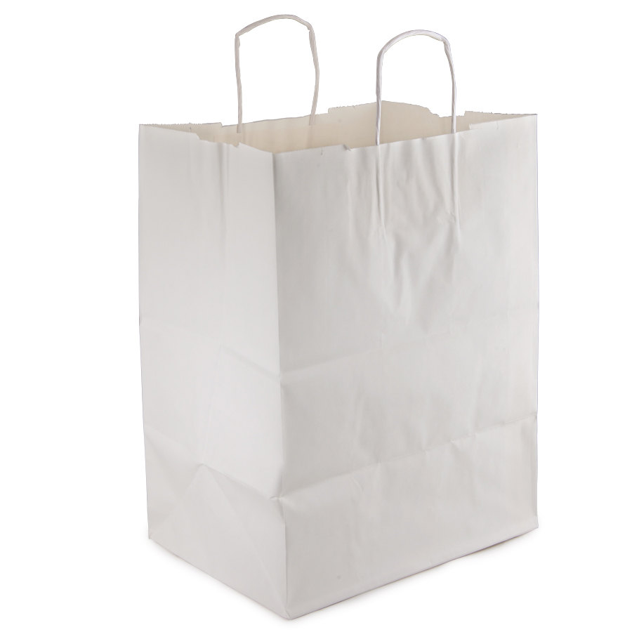 """Regal White Paper Shopping Bag with Handles 12"""" x 9"""" x 16 ..."""