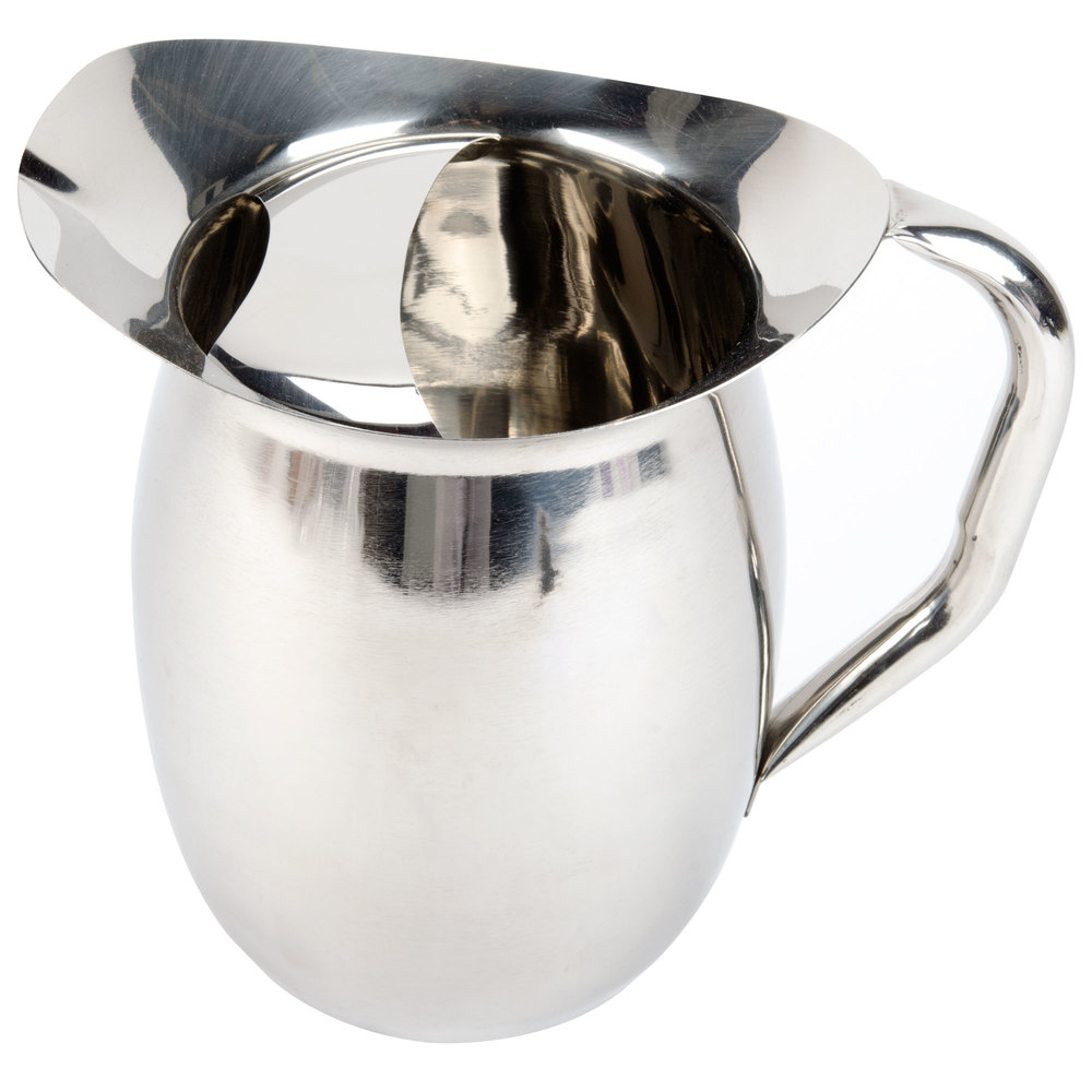 qt bell stainless steel pitcher with ice guard -