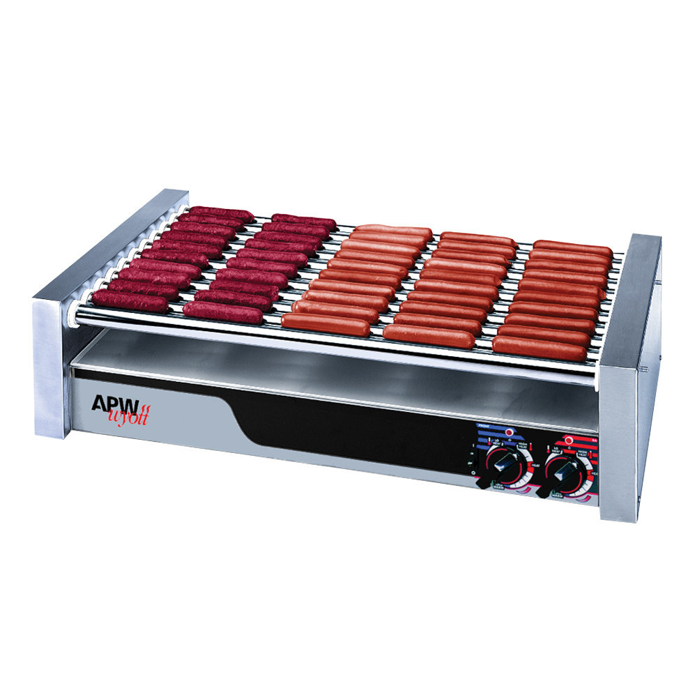 "APW Wyott 208/240 Volt APW Wyott HRS-50S Non-Stick Hot Dog Roller Grill 30 1/2""W - Slant Top at Sears.com"