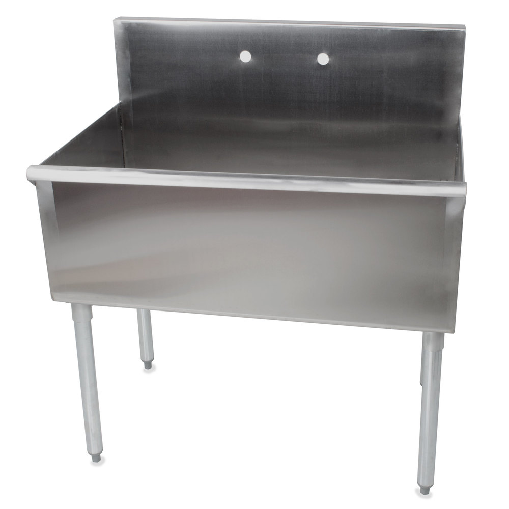 Regency 36 16 gauge stainless steel one compartment for Stand commercial