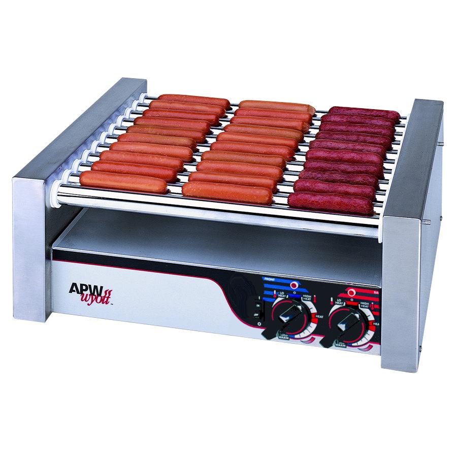 "APW Wyott 208/240 Volt APW Wyott HR-31S Hot Dog Roller Grill 19 1/2"" - Slant Top at Sears.com"