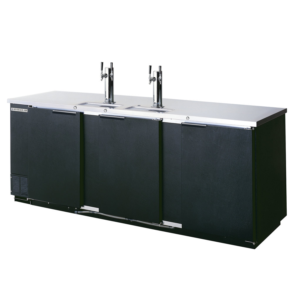 Beverage Air (Bev Air) DD94-1-B 95 inch Black Beer Dispenser - 5 Keg Capacity