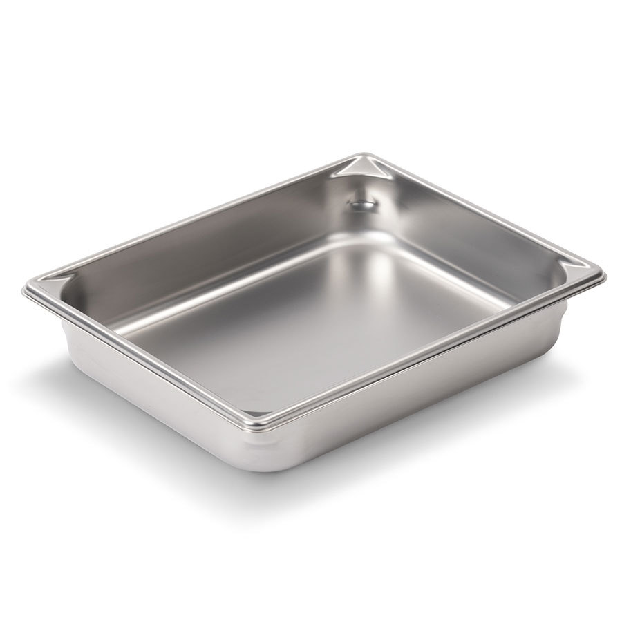 Vollrath Super Pan V 30122 2/3 Size Stainless Steel Anti-Jam Steam Table / Hotel Pan - 2 1/2 inch Deep