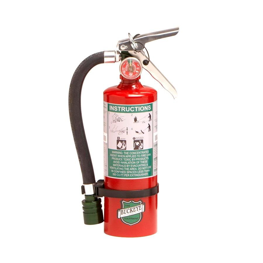 superb Commercial Kitchen Fire Extinguisher #10: Halotron Fire Extinguisher 70259 - UL Rated 2B:C - Rechargeable