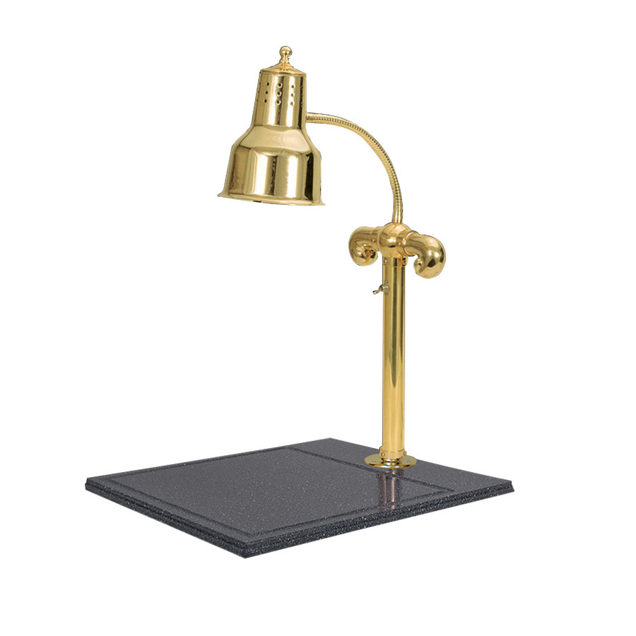 "Hanson Brass SLM/BB/BR Single Lamp 18"" x 20"" Brass Carving Station with Synthetic Granite Base"