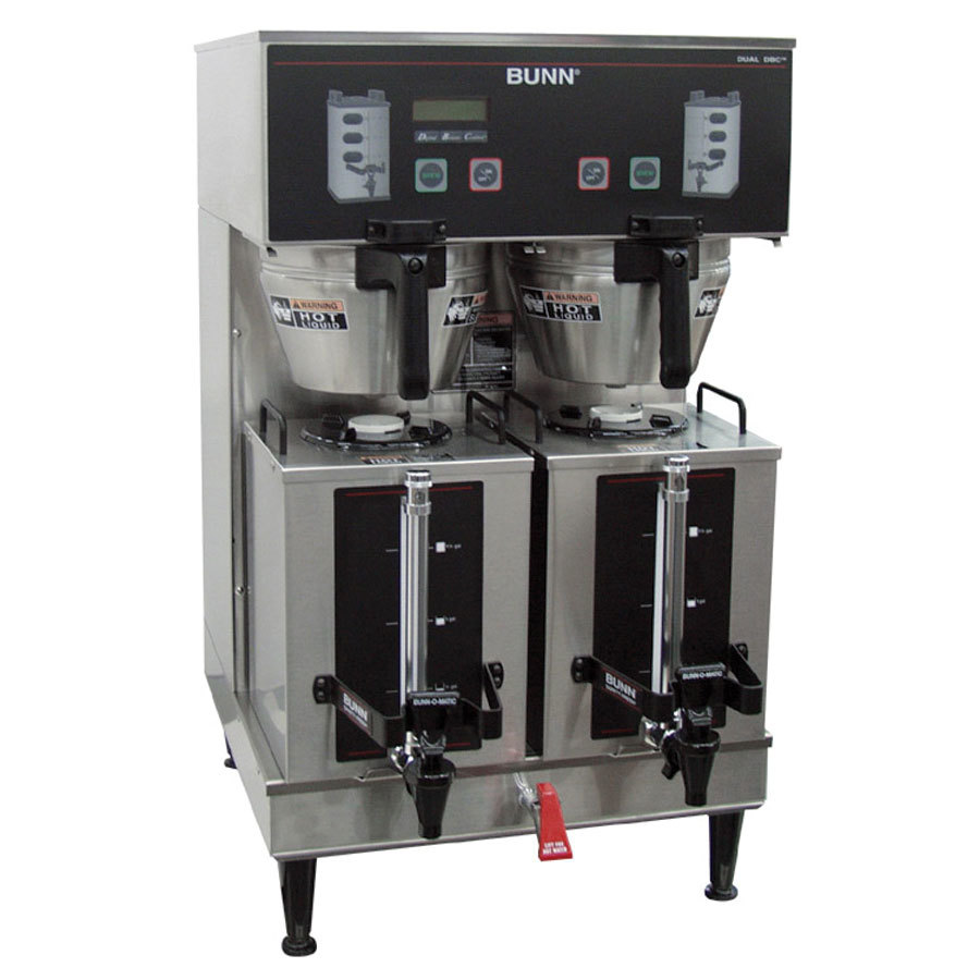 Bunn Coffee Maker Dual Sh Instructions : Bunn 35900.0010 GPR DBC BrewWISE 18.9 Gallon Dual Coffee Brewer - 120/208-240V, 16800W