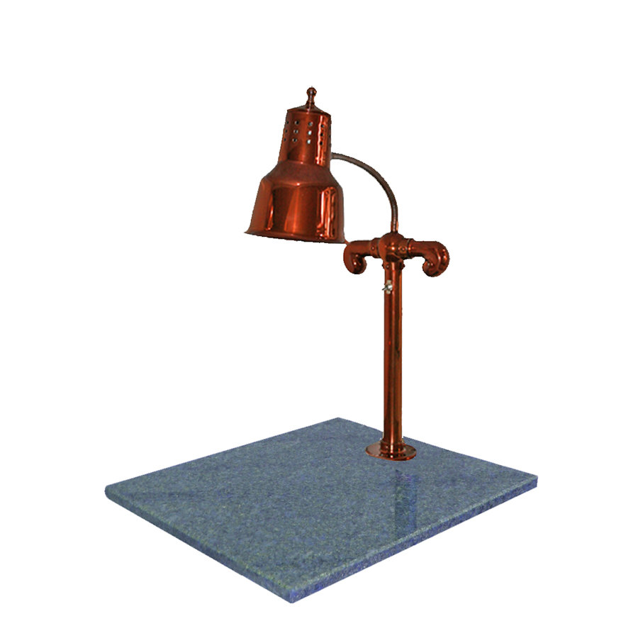 "Hanson Brass SLM/GB/SC Single Lamp 18"" x 20"" Smoked Copper Carving Station with Natural Granite Base"