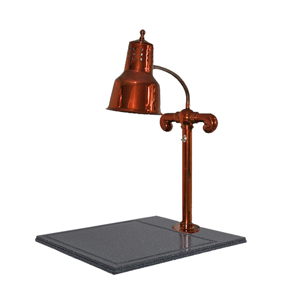 "Hanson Brass SLM/BB/SC Single Lamp 18"" x 20"" Smoked Copper Carving Station with Synthetic Granite Base"