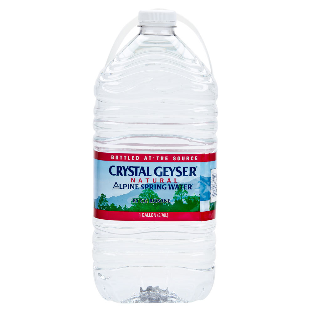 Crystal Geyser 1 Gallon Natural Spring Water 6 Case