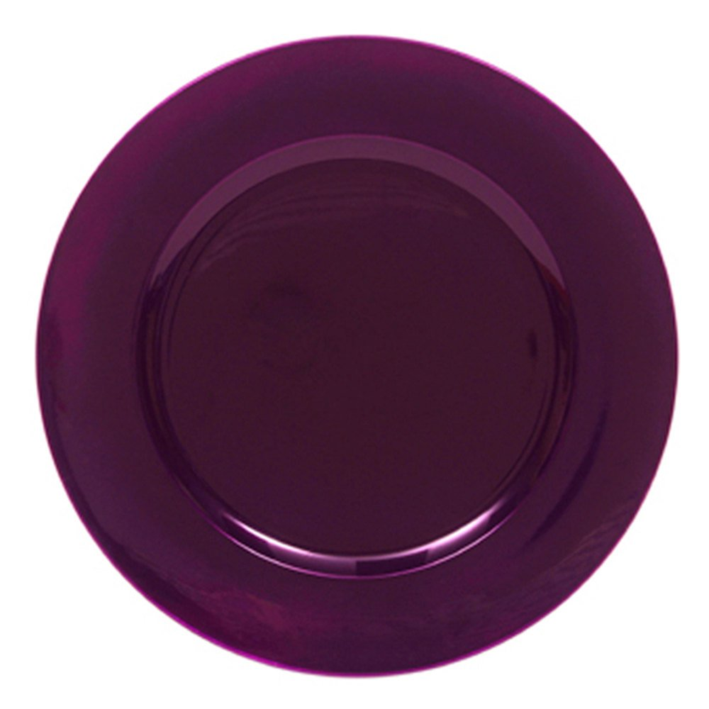 "The Jay Companies 13"" Round Purple Polypropylene Charger Plate"