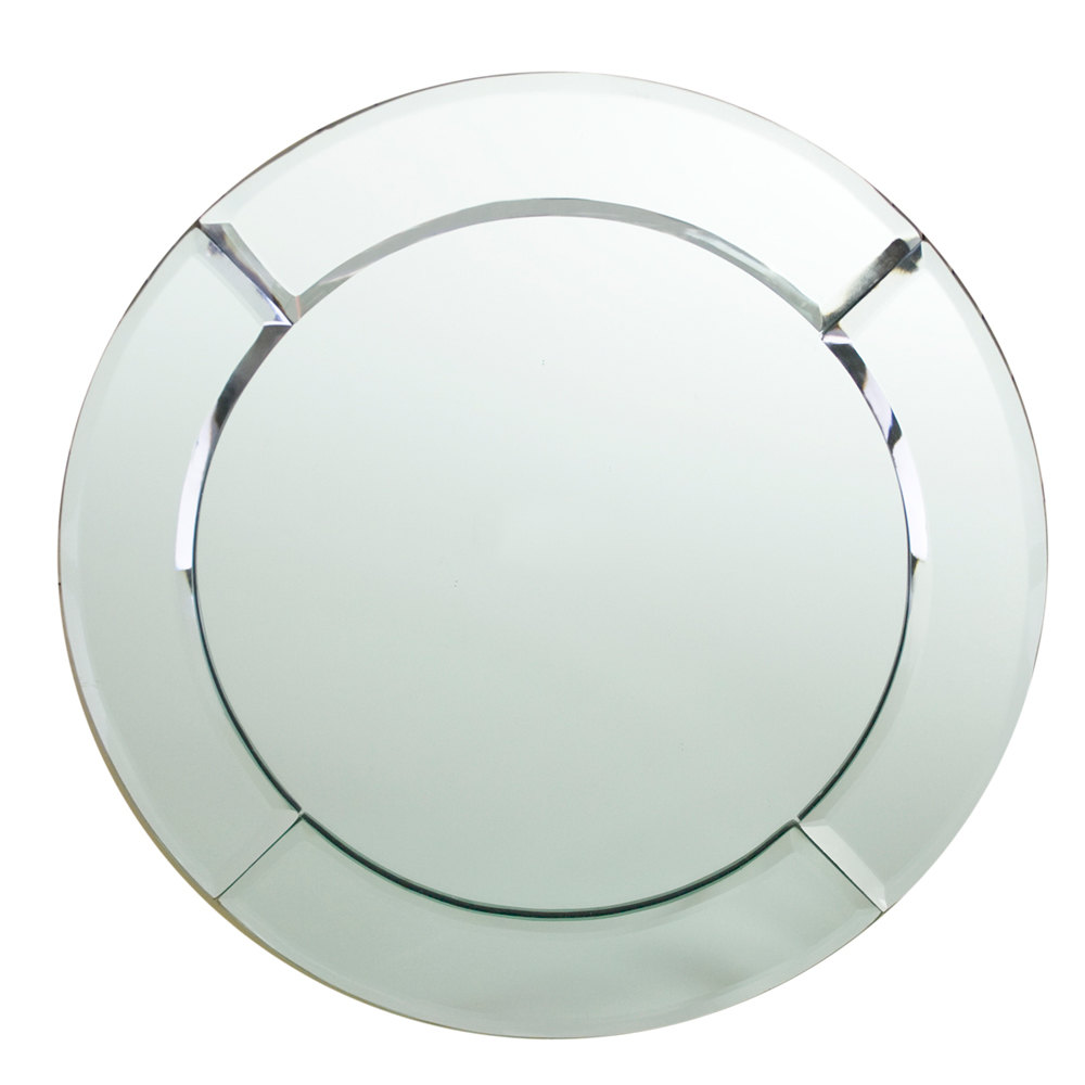 "The Jay Companies 13"" Round Glass Mirror Charger Plate"