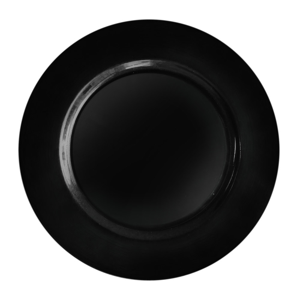 "The Jay Companies 13"" Round Black Polypropylene Charger Plate"