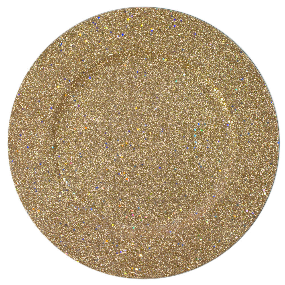 The Jay Companies 1180018 13 Quot Round Gold Glitter