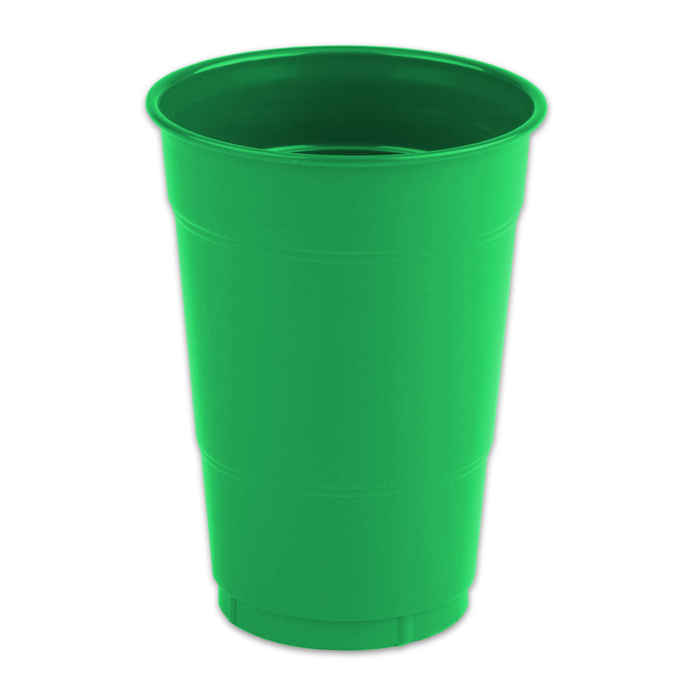 16 Oz Emerald Green Solid Plastic Cup 600 Case