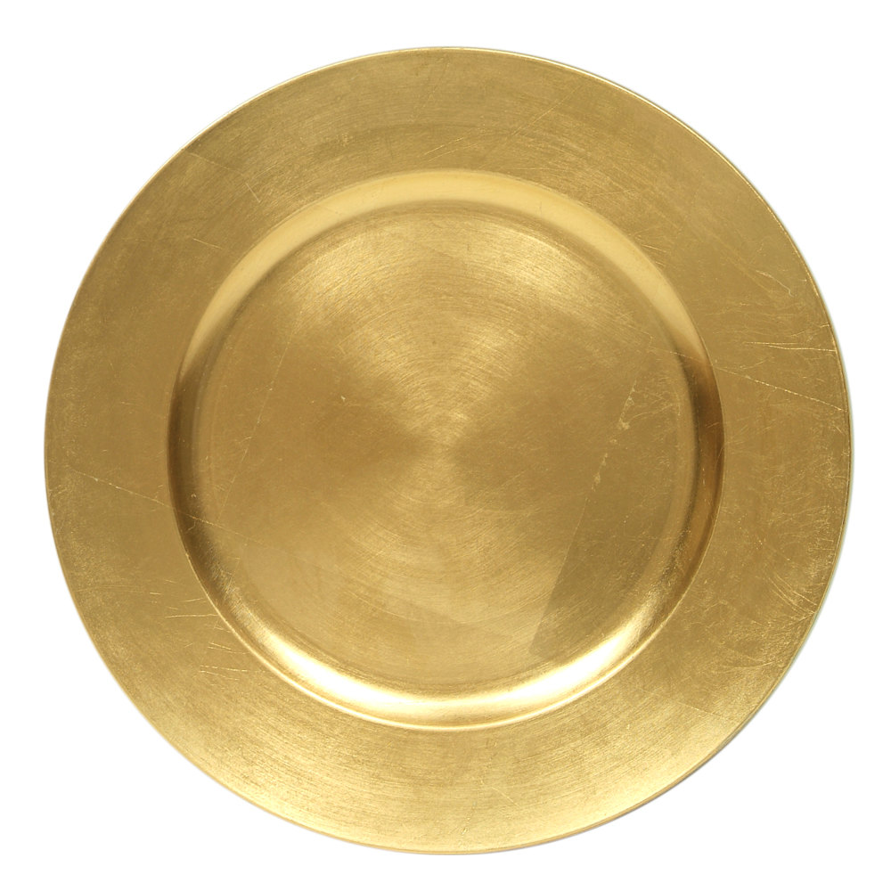 "The Jay Companies 13"" Round Gold Polypropylene Charger Plate"