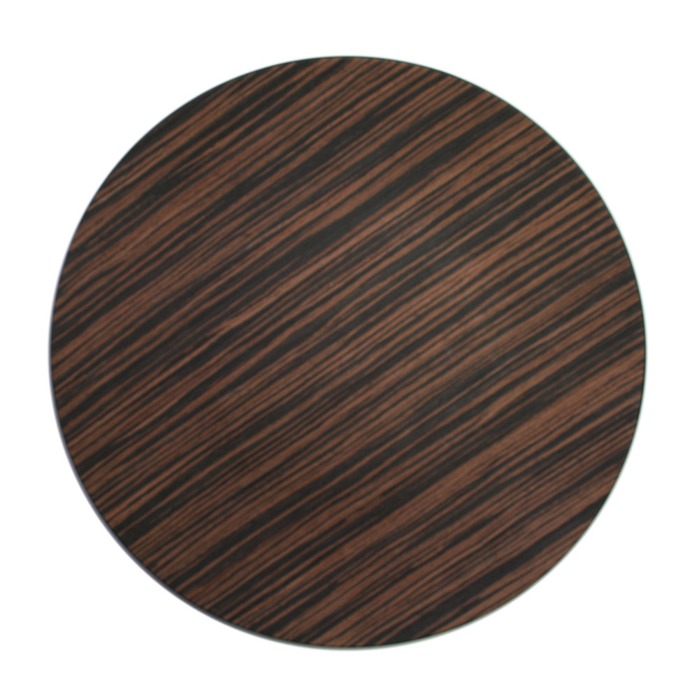 "The Jay Companies 13"" Round Brown Pine Faux Wood Charger Plate"