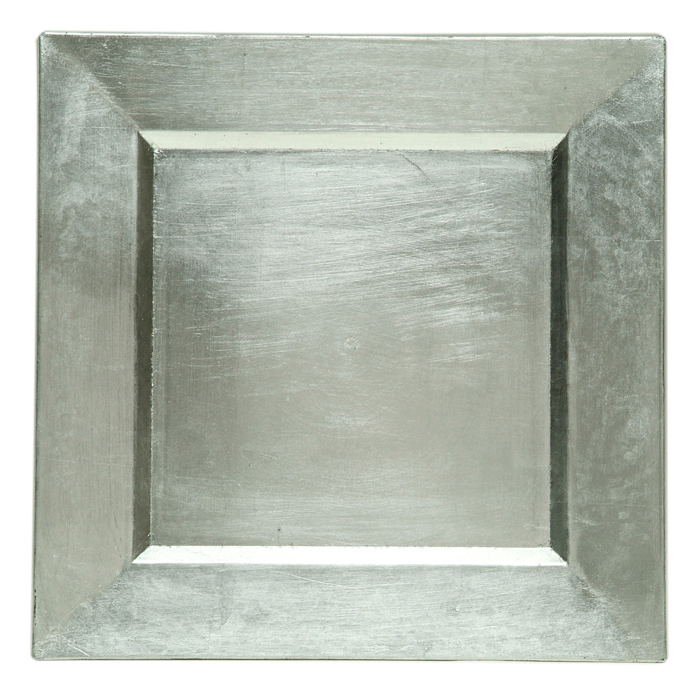 ... Square Silver Polypropylene Charger Plate. Main Picture  sc 1 st  WebstaurantStore & The Jay Companies A81HR-13 13\