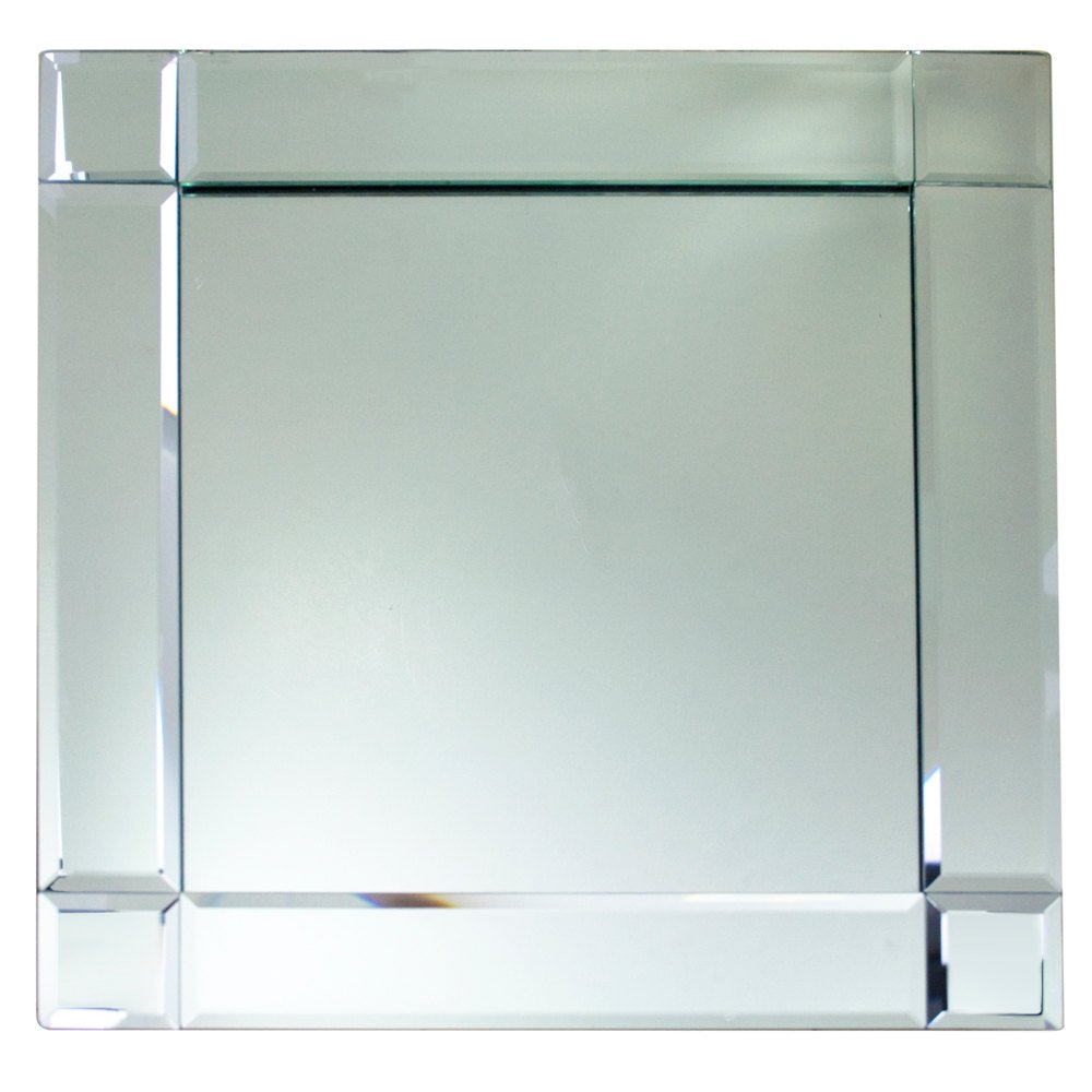 Square Deco Glass Mirror Charger Plate Main Picture