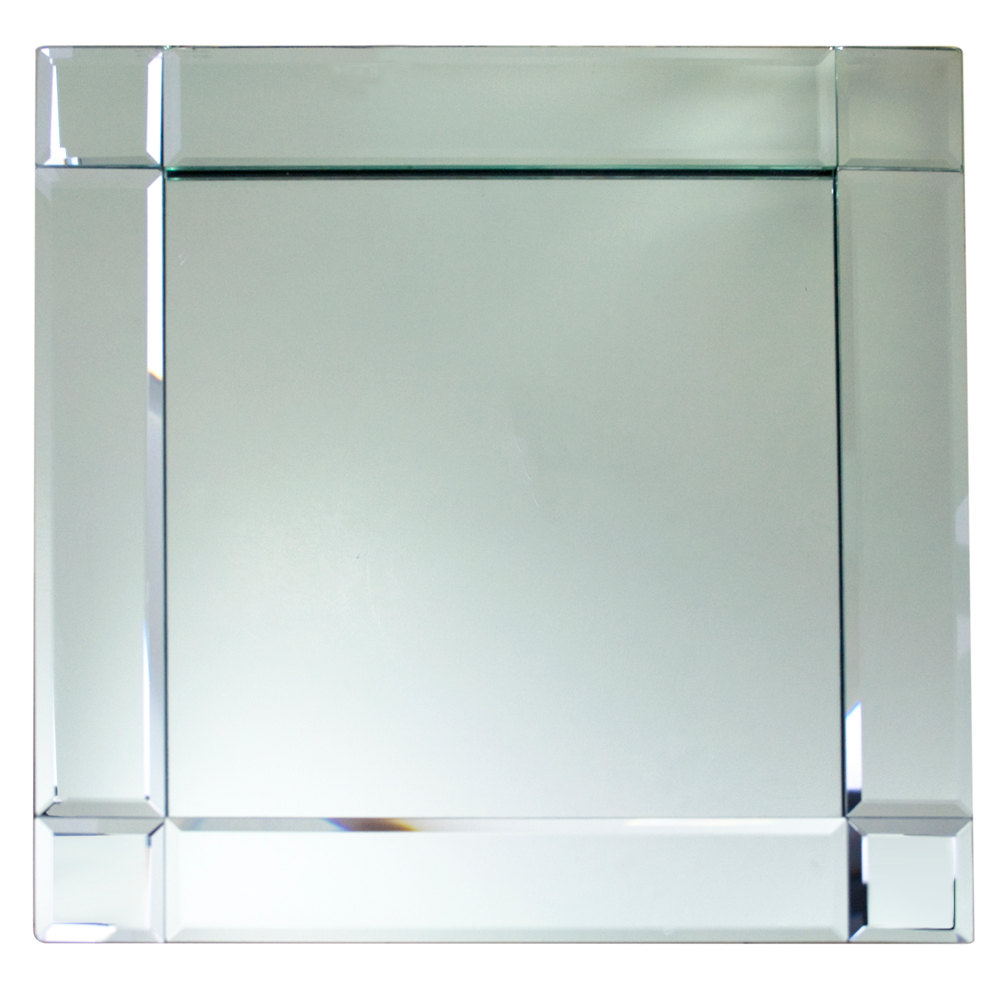 The Jay Companies 1330052 13 Quot X 13 Quot Square Deco Glass Mirror Charger Plate