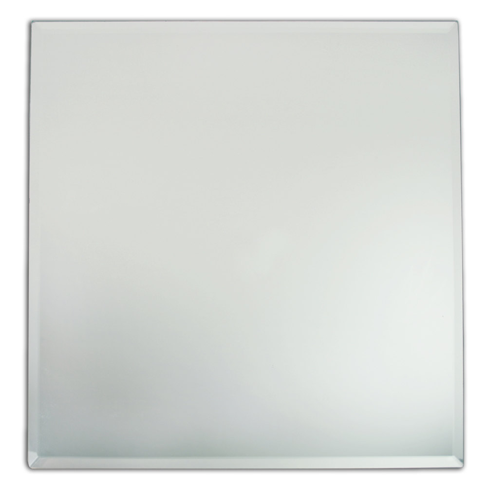 The jay companies 13 x 13 square glass mirror charger plate for Square mirror