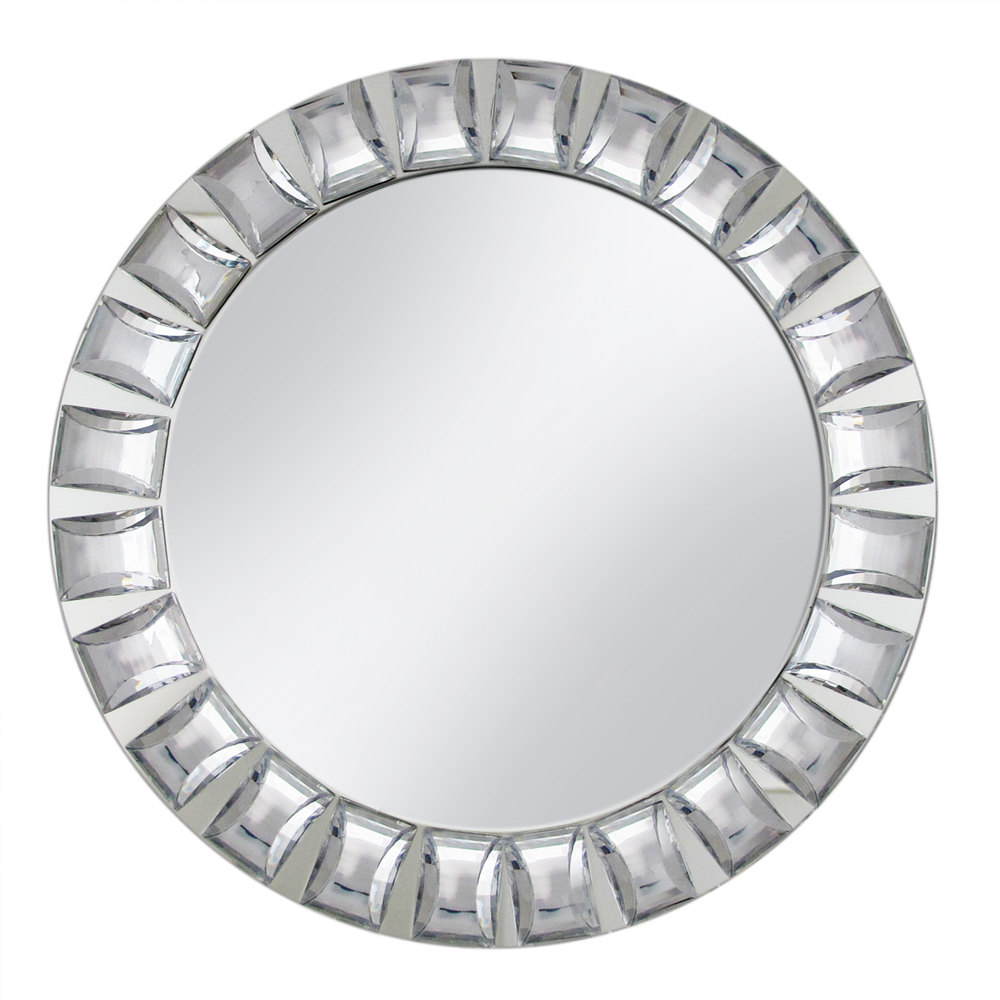 The Jay Companies 13 Quot Round Large Jeweled Glass Mirror