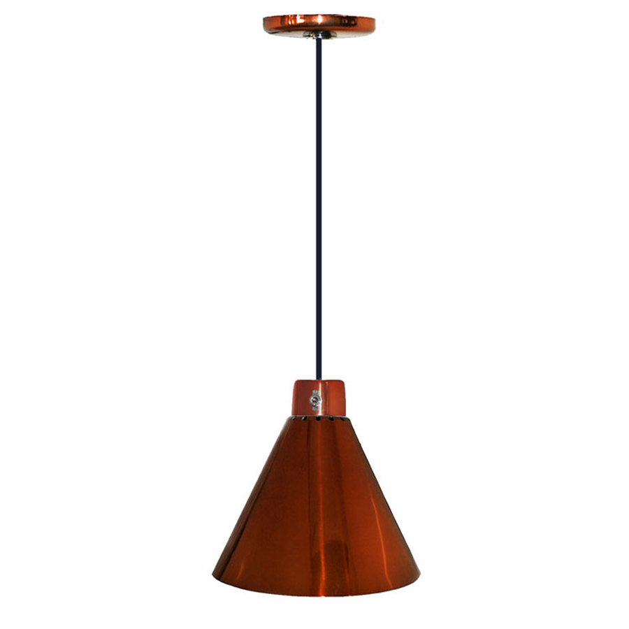 hanson heat lamps 400 c sc ceiling mount heat lamp with smoked copper finish. Black Bedroom Furniture Sets. Home Design Ideas