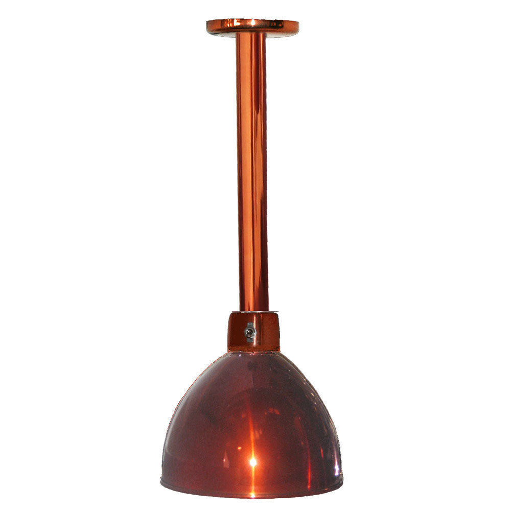 Hanson Heat Lamps 800-LGT-SC Rigid Ceiling Mount Heat Lamp with Smoked Copper Finish
